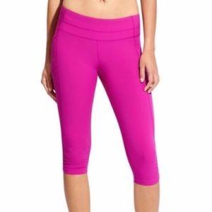 Athleta | Pink Dobby Be Free Crop Pants